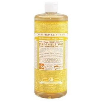 DR.BRONNER ドクターブロナー マジックソープ シトラスオレンジ 洗顔料 ボディーソープ アトピー肌にも安心 (香水/コスメ)