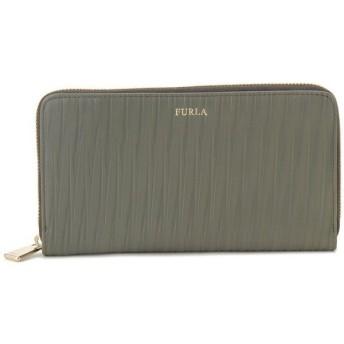フルラ Furla 財布 CLASSIC ラウンドファスナー長財布 706074 OLIVE/オリーブグリーン レザー型押し レディース ブランド