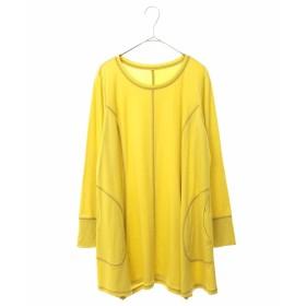 HIROKO BIS GRANDE 【洗える】ステッチデザインチュニック Tシャツ・カットソー,イエロー