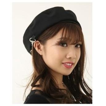 rienda ビットパーツベレー帽 ブラック