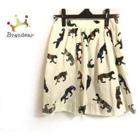エムエスジィエム MSGM スカート サイズ38 M レディース 白×黒×マルチ ヒョウ  値下げ 20190911