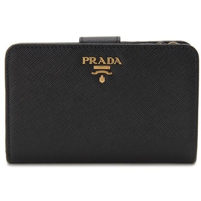 プラダ PRADA 二つ折り財布 1ML225-QWA-F0002 サフィアーノ ブラック