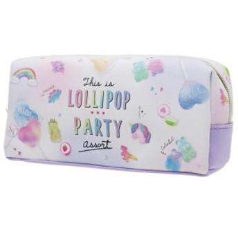 筆箱 LOLLIPOP PARTY ペンケース ホワイト 新入学 新学期準備 筆記用具 ステーショナリー グッズ