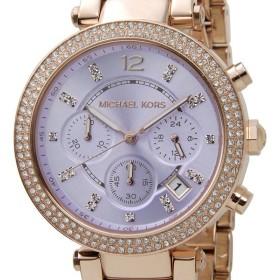マイケルコース MICHAEL KORS 腕時計 レディース MK6169 PARKER パーカー クロノ パープル/ゴールド ブランド