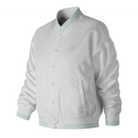 076f40eb61b74 ニューバランス New Balance レディース ジャケット アウター WJ91575 Essentials Stadium Jacket White