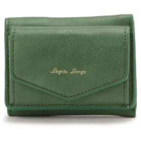 ビーバー Legato Largo/レガートラルゴ/シュリンク三つ折りミニ財布 レディース GREEN F 【BEAVER】