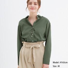 GU 2WAYオーバーサイズシャツ 長袖