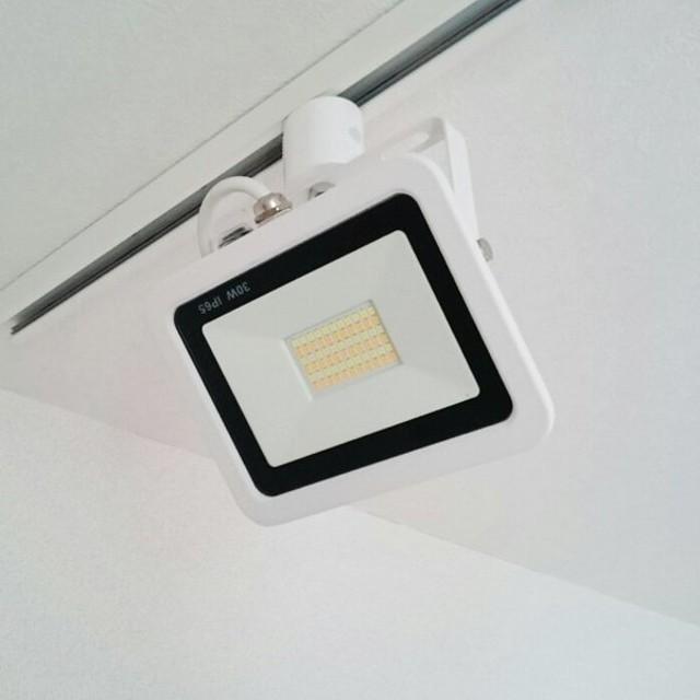 LED投光器 ダクトレール スポットライト 電球色 昼光色 黒 白 30W IP65 屋内 屋外 防塵 耐塵 防水 LEW030DR ビームテック