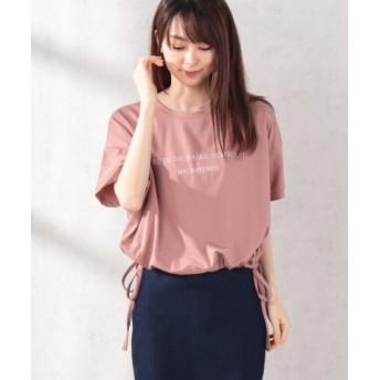 (WEGO/ウィゴー)WEGO/シンプルロゴドロストTシャツ/レディース ピンク