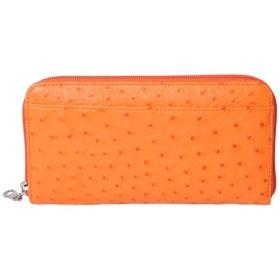 ロダニア RODANIA オーストリッチ ラウンドファスナー財布 OKN1833HOR オレンジ