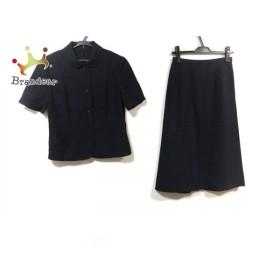 レリアン Leilian スカートスーツ サイズ9 M レディース 美品 ダークネイビー   スペシャル特価 20190921