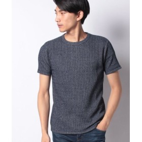 (ikka/イッカ)ローゲージ鹿の子プルオーバーTシャツ/メンズ ネイビー