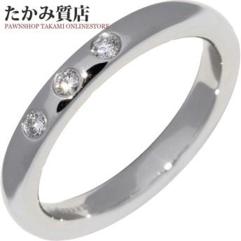 ティファニー 指輪 リング Pt950 ダイヤ3P 0.06ct エルサ・ペレッティ スタッキングバンドリング 8号