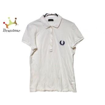 フレッドペリー FRED PERRY 半袖ポロシャツ サイズM レディース アイボリー 刺繍 値下げ 20190921