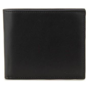 ポールスミス 二つ折り財布 ANXA 1033 W731 B Paul Smith レザー ブラック メンズ ブランド