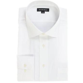 【GRAND-BACK:トップス】【大きいサイズ】 形態安定ワイドカラー長袖ビジネスドレスシャツ