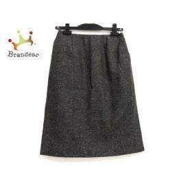タエアシダ TAE ASHIDA スカート サイズ7 S レディース 美品 ダークブラウン×白 新着 20190625