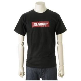 エクストララージ XLARGE メンズ 半袖 Tシャツ (S) WAVE BOX LOGO SS TEE ブラック