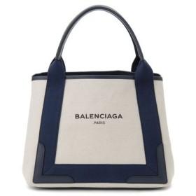 バレンシアガ BALENCIAGA トートバッグ 339933-AQ38N-4081 NAVY CABAS S キャンバス ブルー