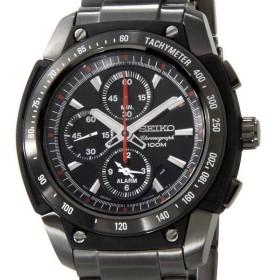 セイコー SEIKO メンズ 腕時計 SNAD49P1 クロノグラフ アラーム ブラック×ブラック セイコーウオッチ ブランド【送料無料】