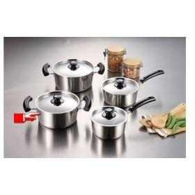 パール金属 グランディーヌ アルミ3層鋼両手鍋20cm [ IH対応 オール熱源対応 ] 熱伝導・保温性に優れています 調理器具 厨房用品 厨房機器