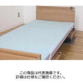 ウェルファン 洗えるベッドパッド(防水タイプ) ブルー 93×195cm (直送品)