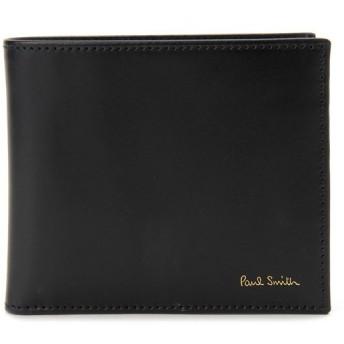 ポールスミス Paul Smith 二つ折り財布 ARXC-4833-W761-B ブラック