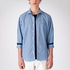 【Crestbridge 】ハイブリッドリネンミックスシャツ