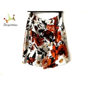 バレンシアガ BALENCIAGA 巻きスカート サイズ38 M レディース 美品 白×黒×オレンジ   スペシャル特価 20190912