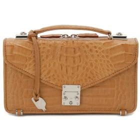 ワニ革 セカンドバッグ メンズバッグ カイマンワニ OKU0315HBKMT 財布一体型バッグ キャメル