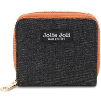 Jolie Joli ジョリージョリ 二つ折りラウンド財布 2017901-007 デニム レディース 財布 ブラック×オレンジ