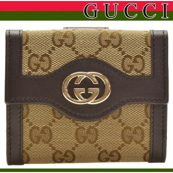 ポイント5倍 グッチ 財布 GUCCI 財布 スーキー 二つ折り財布 GGキャンバス 328315