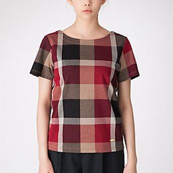【ブルーレーベル・クレストブリッジ 】クレストブリッジチェックハイゲージジャガードTシャツ