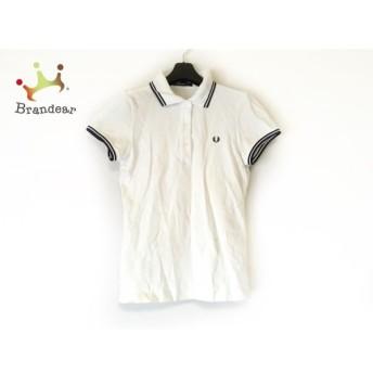 フレッドペリー FRED PERRY 半袖ポロシャツ サイズ40 L レディース 白×ダークネイビー 値下げ 20190917