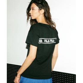 ラナン FILAプリントTシャツ レディース ブラック LL 【Ranan】