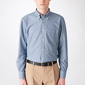 【Crestbridge 】【MonoMax4月号掲載】【イージーケア】ジャージーソリッドボタンダウンシャツ