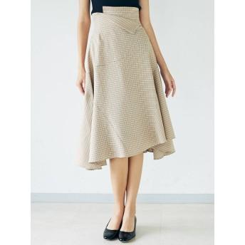 [LAGUNAMOON]チェックヘムフレアスカート