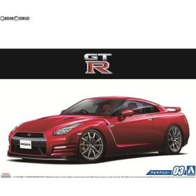 『新品即納』{PTM}(再販)ザ・モデルカー No.3 1/24 ニッサン R35 GT-R ピュアエディション'14 プラモデル アオシマ(20171014)