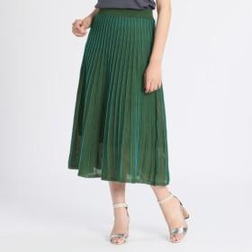 ガラ バイ ユマコシノ プリーツ風デザイン ニットフレアースカート