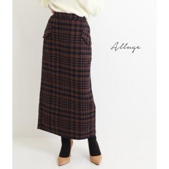【セール開催中】ANAP(アナップ)千鳥柄ナロースカート