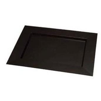 ソリア ディアマンテプレート(25入)ブラック PS30503 400×300【 厨房消耗品 】
