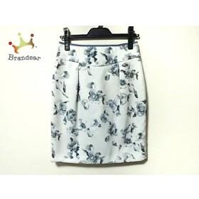 アプワイザーリッシェ スカート サイズ1 S レディース 美品 白×グレー×マルチ 花柄   スペシャル特価 20191006