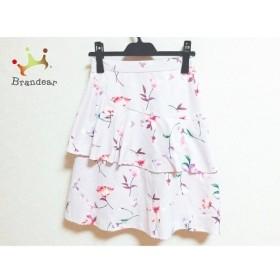 ミシェルマカロン スカート サイズXS レディース 美品 ピンク×レッド×マルチ 花柄  値下げ 20190929