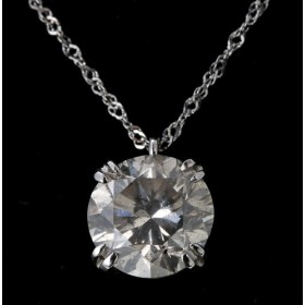 プラチナ ダイヤモンド1ctペンダント ダブル4本爪 レディース