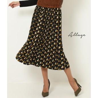 【セール開催中】ANAP(アナップ)ジオメトリープリントプリーツスカート
