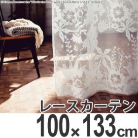 【最大1000円OFFクーポン配布中】 カーテン レースカーテン スミノエ くまのプーさん インザウッド 100×133cm ( 送料無料 ディズ