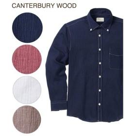 シャツ カジュアル メンズ CANTERBURY WOOD カンタベリーウッド クレープ 長袖 トップス M/L/LL ニッセン