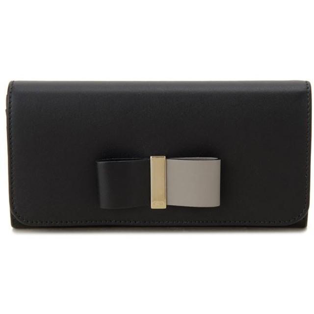 クロエ 長財布 3P0291-889-001 CHLOE レザー ボウ ブラック 財布