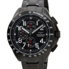 テクノス TECHNOS T4417BB クロノグラフ 10気圧防水 ブラック メンズ 腕時計