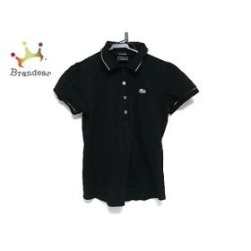 ラコステ Lacoste 半袖ポロシャツ レディース 美品 黒×ゴールド×白 ラメ 新着 20190624
